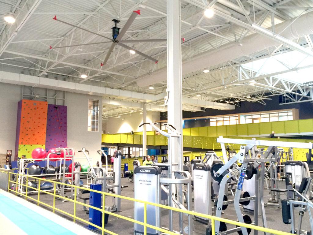 Instalace HVLS ventilatoru